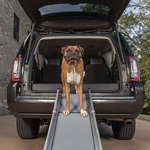 Solvit PetSafe – Grande Rampe Télescospique pour Animal de Compagnie Pliable Deluxe en 3 Parties PetSafe, Aluminium, Légère, Compacte