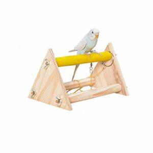 starter Support de Jeu pour Perroquet, Support Portable en Bois pour Perroquet Bureau Oiseau Meulage Plate-Forme de Table Plate-Forme Cage à Oiseaux Jouet d'entraînement Jouet Env. 20x14x12cm