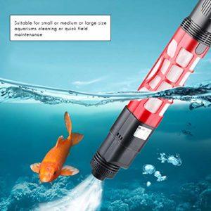 Surenhap Aquarium Nettoyeur de Gravier pour Nettoyeur de Gravier à Alimentation électrique 2 en 1 aspirateur de réservoir de Poissons (Set (avec Adaptateur))