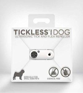Tickless Mini – Répulsif Rechargeable Ultrason Anti-tiques et puces pour Animaux de Compagnie – Blanc