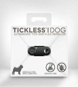 Tickless Mini – Répulsif Rechargeable Ultrason Anti-tiques et puces pour Animaux de Compagnie – Noir