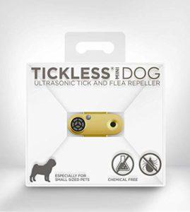 Tickless Mini – Répulsif Rechargeable Ultrason Anti-tiques et puces pour Animaux de Compagnie – Or