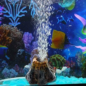 TONGXU Décoration d'Aquarium Résine Volcan Pompe à Bulle d'air Spit Paysager Décoration Ornement