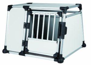 TRIXIE Box de Transport Aluminium pour Chien Argent/Gris Clair L: 93 x 64 x 81 cm