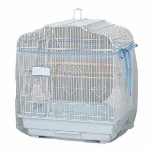 TUYU Doux Ventilated Mesh Pet Cage Oiseau Catcher Garde Couverture Shell Jupe Décoration