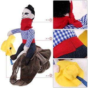 UEETEK Costume pour animaux de compagnie Costume pour chien Habillement pour animal de compagnie Style Cowboy Rider (L)