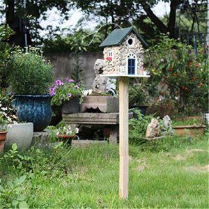 vahome Cabane à Oiseaux Vertical en Bois en Bois Mangeoire À Oiseaux Cour Anglaise Jardin Chalets Bird House for Petite Cabane À Oiseaux Birdhouse Décoration Créative Extérieur
