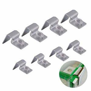 WhioveC Lot de 8 Supports antidérapants en Acier Inoxydable pour Aquarium 6 mm/8 mm