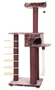 XL Arbre à chat arbre à chat chat chat Lieu de Sommeil Marron 76x 56x 202cm