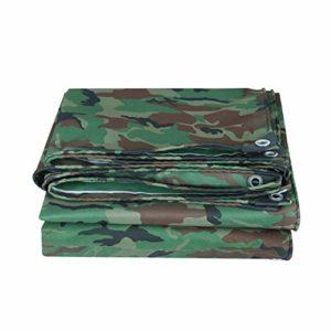 XUEYAN La bâche imperméable de Toile de toiture d'Oxford de la bâche imperméable de PVC de bâche de Camouflage de bâche de Camouflage imperméable Couvre la Feuille résistante, 420g / m²