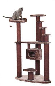 XXL MEGA Arbre à chat arbre à chat chat chat Lieu de Sommeil Marron 116x 76x 202cm