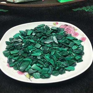 Ydfq 100g de Pierres de Cristal de Malachite rares et Naturelles.