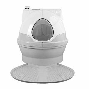 ZZQ Toilette Automatique pour Chat, litière Intelligente, déodorant résistant aux éclaboussures et à Faible Bruit, litière électrique Propre
